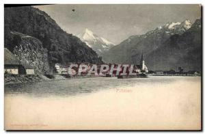 Old Postcard Insurance Company Fluelen Switzerland Winterthur