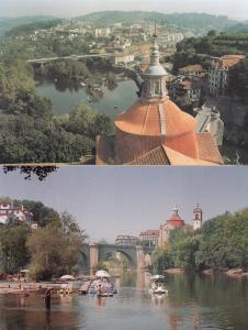 Amarante Portugal Boat Parasols 2x Postcard s