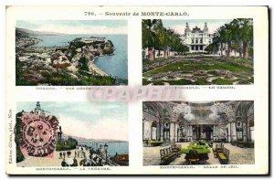 Old Postcard Remembrance Monte Carlo