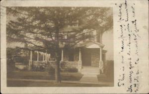 Home - Nice Stone Work - Philadelphia PA Cancel c1910 Real Photo Postcard