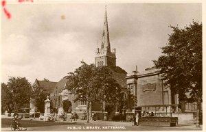 UK - England,  Kettering. Public Library *RPPC