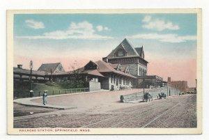 SPRINGFIELD, Massachusetts, 1900-10s; Railroad Station
