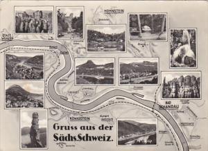 Switzerland Gruss aus der Saechsichen Schweiz 1960