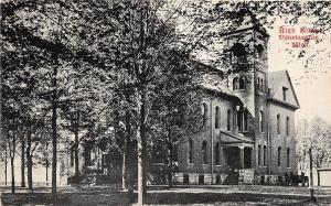 Michigan MI Postcard c1910 CONSTANTINE High School Building