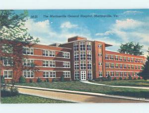 Unused Linen HOSPITAL SCENE Martinsville - Near Danville Virginia VA d5492