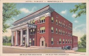 North Carolina Bennettsville Hotel Powers 1941 Curteich