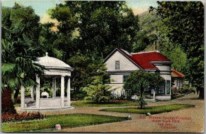 San Jose Calif. Postcard Mineral Springs Fountain, Alum Rock Park 1912 Cancel