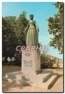 Postcard Modern Beja Portugal Monument to Queen