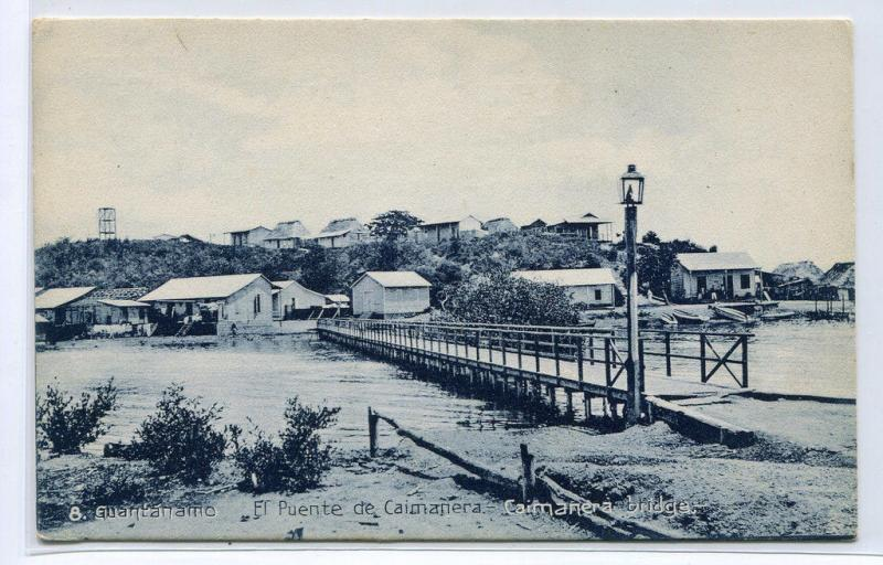 Puente Caimanera Bridge Guantanamo Cuba 1910c postcard