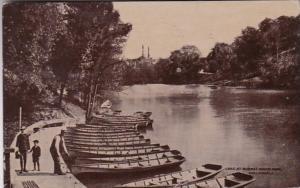 Ohio Cincinnati Lake At Burnett Park 1913