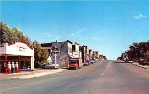 Tower MN Standard Gas Station Street View Store Fronts Old Cars Postcard