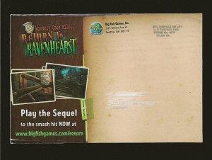 Return to Ravenhearst Big Fish Games Color 3-D Postcard Unposted