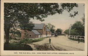 Greenbush MA View From Post Office c1910 Postcard