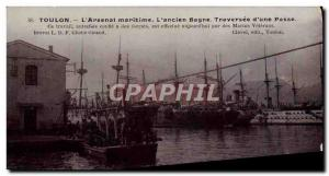 Old Postcard Steam Bagnard Toulon Arsenal maritime Former prison Traversee d ...