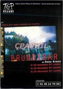 Postcard Modern Brundibar by Hans Krasa Opera in Ile de France 1997 1998 Thea...
