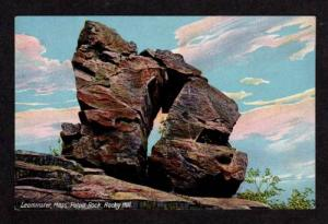 MA View Pulpit Rock LEOMINSTER MASS Postcard PC Massachusetts