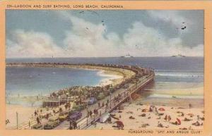 California Long Beach Lagoon And Surf Bathing