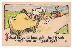 Dutch Kids Wooden Shoe Car Girl Dumps Boy I hates to lose yu