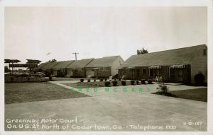 1952 Cedartown Georgia Real Photo Postcard: New Greenway Motor Court on US 27