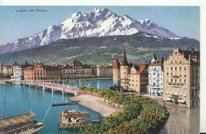 Switzerland Postcard - Luzern Und Pilatus - Ref TZ6531