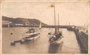 Torquay The Harbour Boats Bateaux Port Hafen 1915