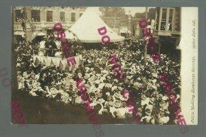 Cedar Falls IOWA RPPC c1910 PUBLIC WEDDING Crowd MERCHANTS CARNIVAL Big Event!