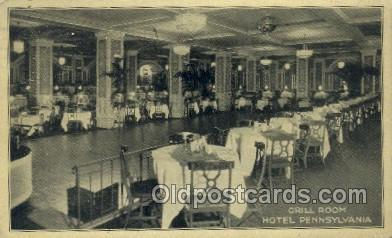 Hotel Pennsylvania, New York City, NYC USA Restaurant Old Vintage Antique Pos...