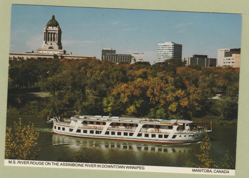 Postcard M.S. River Rouge Cruise Ship Assiniboine River Manitoba, Canada