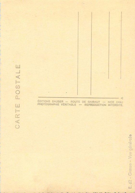 Postcard France Grasse vue generale