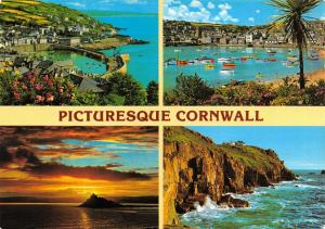 Cornwall Postcard, Picturesque Cornwall, Multi View by John Hinde Ltd S65