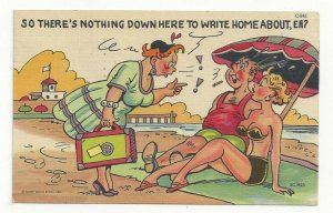 COMIC: Husband gets caught by wife at the beach with girlfriend , PU-1960