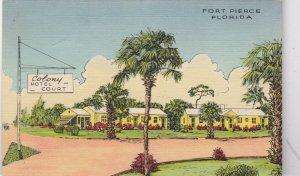 Florida Fort Pierce Colony Hotel Court Curteich sk5149