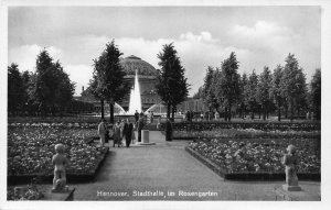 Hannover Stadthalle im Rosengarten Fountain Park Postcard