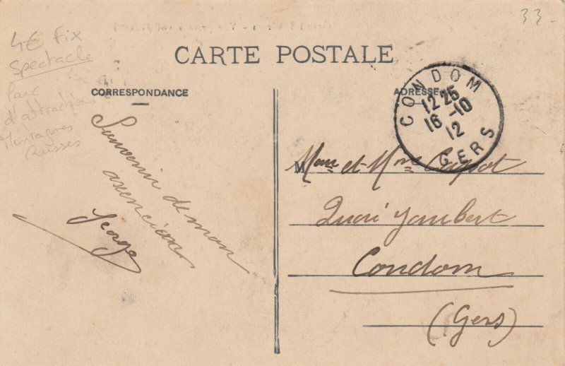 BORDEAUX, Gironde, France, 1912; Grand 8 Aerien-Vue prise a vol d'oiseau (ROLLER