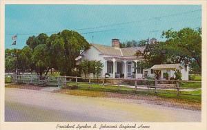Texas Johnson City President Lyndon B johnsons Boyhood Home