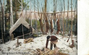 USA Making Camp in the Maine Woods 03.31