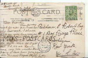 Genealogy Postcard - Richard Roberts - Brooklyn - New York - U.S.A. - Ref 8963A