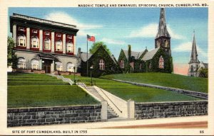 Maryland Cumberland Masonic Temple and Emmanuel Episcopal Church