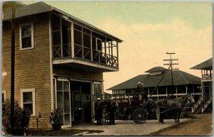Vintage GATUN, Panama Postcard FIRE DEPARTMENT Horse Wagon / 1910 Cancel