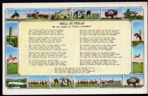 Various Views - Hell in Texas by the Author of Texas a Paradise - Poem - LINEN
