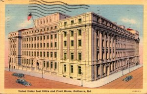 Maryland Baltimore Post Office and Court House 1942 Curteich