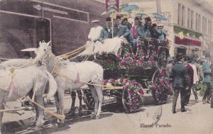 Los Angeles , California , PU-1909; Floral Parade float