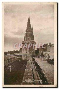 Old Postcard La Rochelle Tour ds Four Sergeants Ponte Day