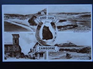 Cornwall CAMBORNE 4 Image Multiview c1950's RP Postcard