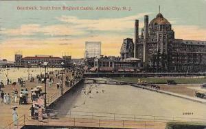 New Jersey Atlantic City Boardwalk South From Bridghton Casino 1914