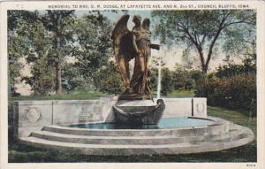 Iowa Council Bluffs Memorial To Mrs G M Dodge At Lafayette Avenue and North 2...