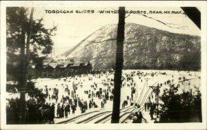 Bear Mtn Park NY Toboggan Slides 1941 Used Real Photo Postcard