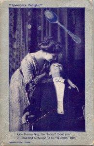 VTG Postcard Valentine Spooner's Delight Copyright 1909 Elkader Iowa   1160