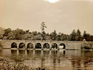 Vintage Postcard Dam at Cumberland State Park Crossville Tennessee 1933 RPPC 739