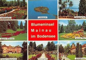 Blumeninsel Mainau im Bodensee, Dahliengarten, Palmengarten, Ordenschloss